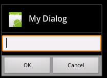 android my alert dialogue